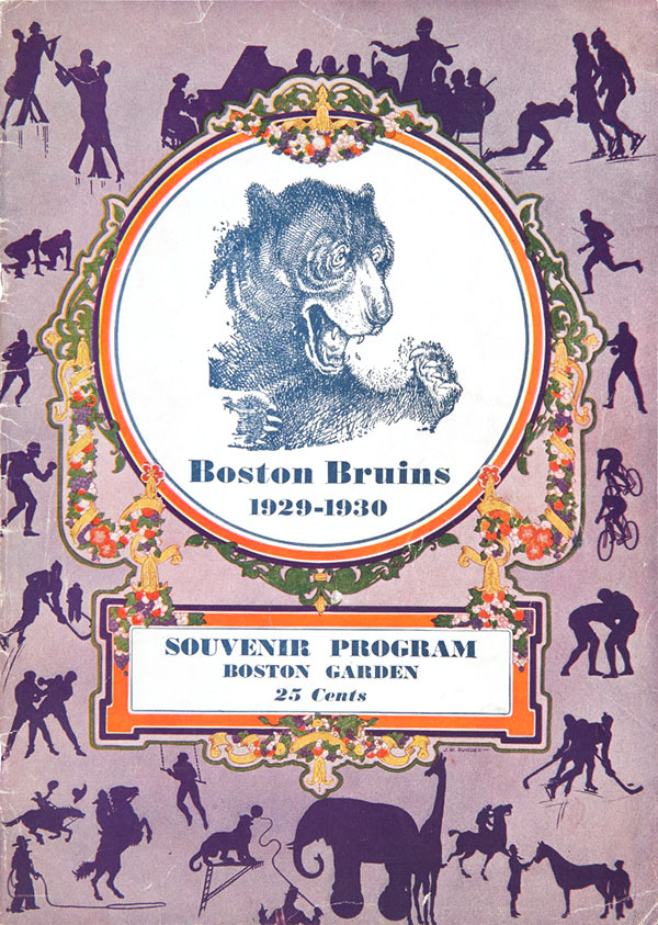 1930 Stanley Cup Finals program, Boston Bruins vs. Montreal Canadiens