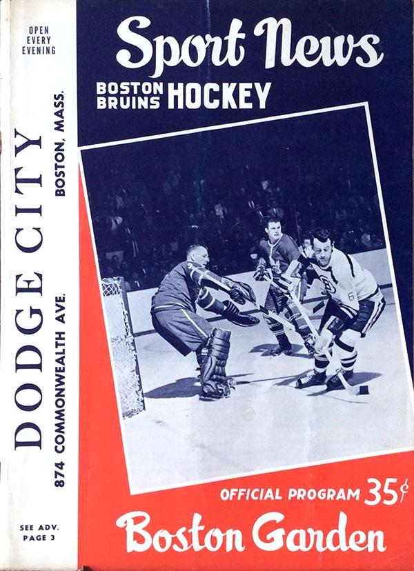 (1960-61) Bruins Program: | Boston SportsPaper.info NHL