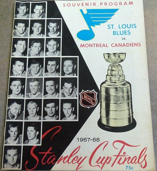 1968 Stanley Cup Finals program: St. Louis Blues vs. Montreal Canadiens