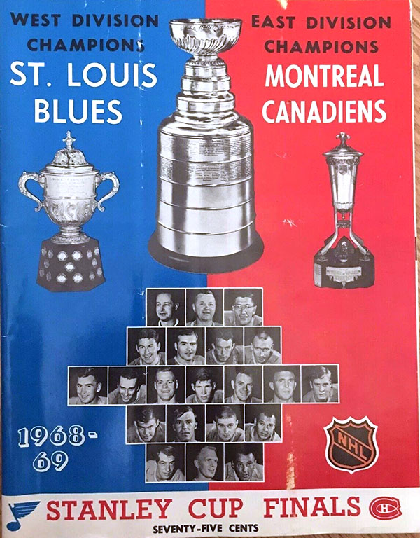 1969 Stanley Cup Finals program: St. Louis Blues vs. Montreal Canadiens