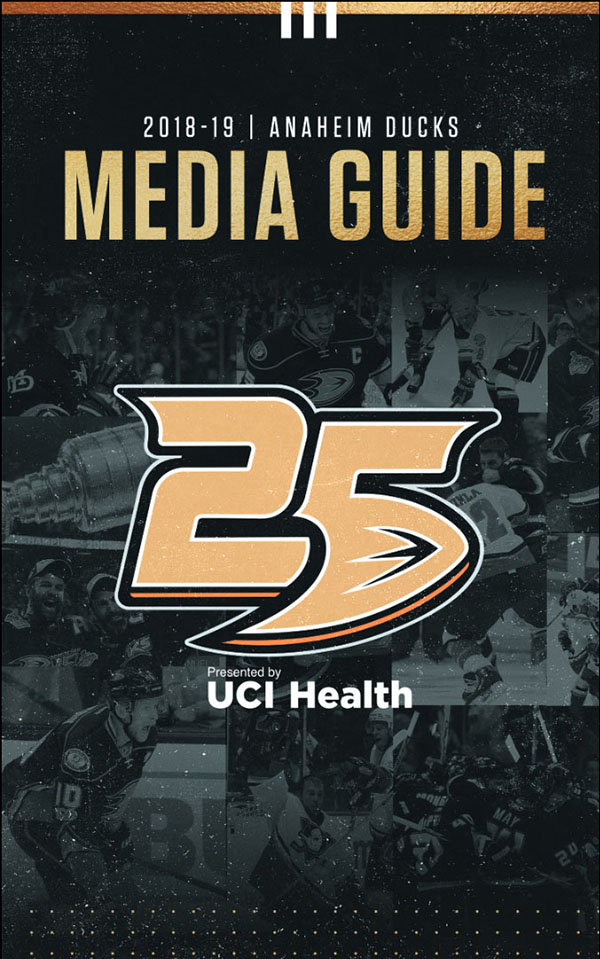 2018-19 ANAHEIM DUCKS MEDIA GUIDE