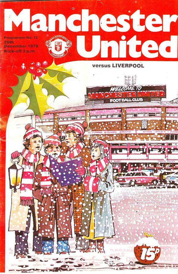 Manchester United vs. Liverpool (December 26, 1978) Christmas program