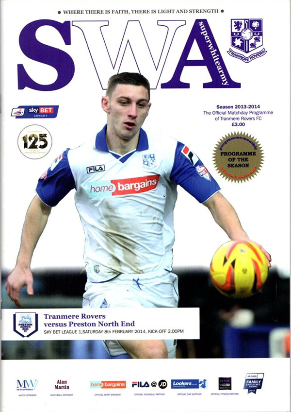 Tranmere Rovers vs. Preston North End (February 8, 2014)