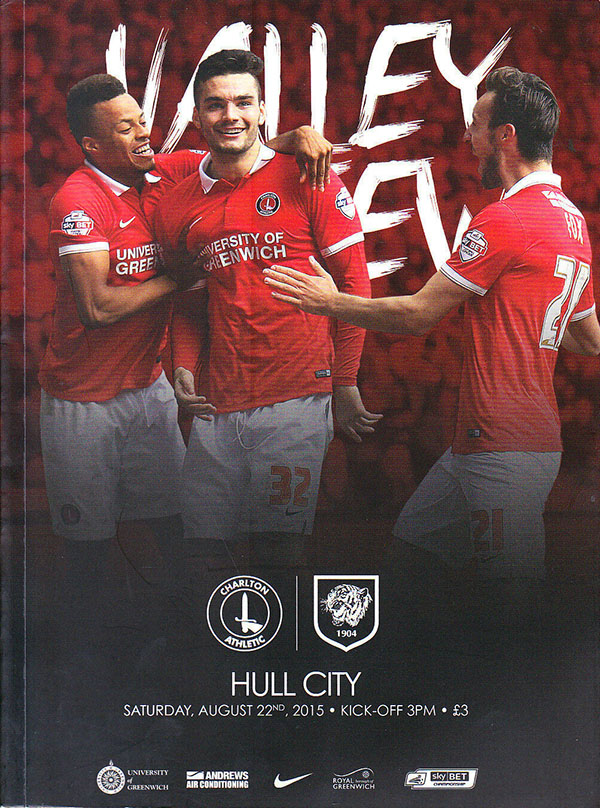Charlton Athletic vs. Hull City (August 22, 2015)